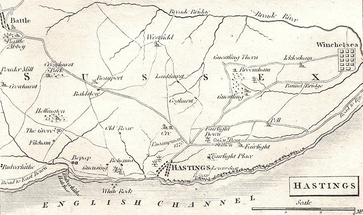 1808 Hasting Map