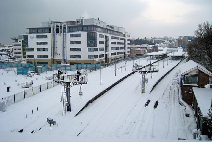 Hastings Station in the Snow