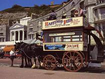 Horse Drawn Omnibus on Hastings Seafront