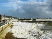 Rough Seas on Hastings Seafront