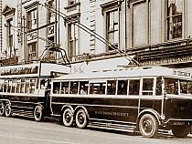 Trolleybuses at Robertson Street